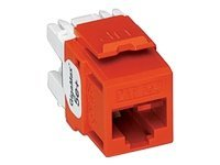 Leviton GigaMax 5e+ QuickPort Connector, Crimson, 5G110-RC5, 8696591, Cable Accessories