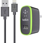 Belkin Home Charger w  Lightning Cable for iPad 10 Watt 2.1 Amp, Black