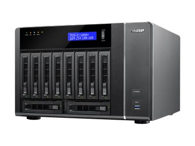 Qnap 10-Bay 6Gb 10GbE X2 1GBeX4 32GB Storage, TVS-EC1080+-E3-32G-US, 18386554, Network Attached Storage