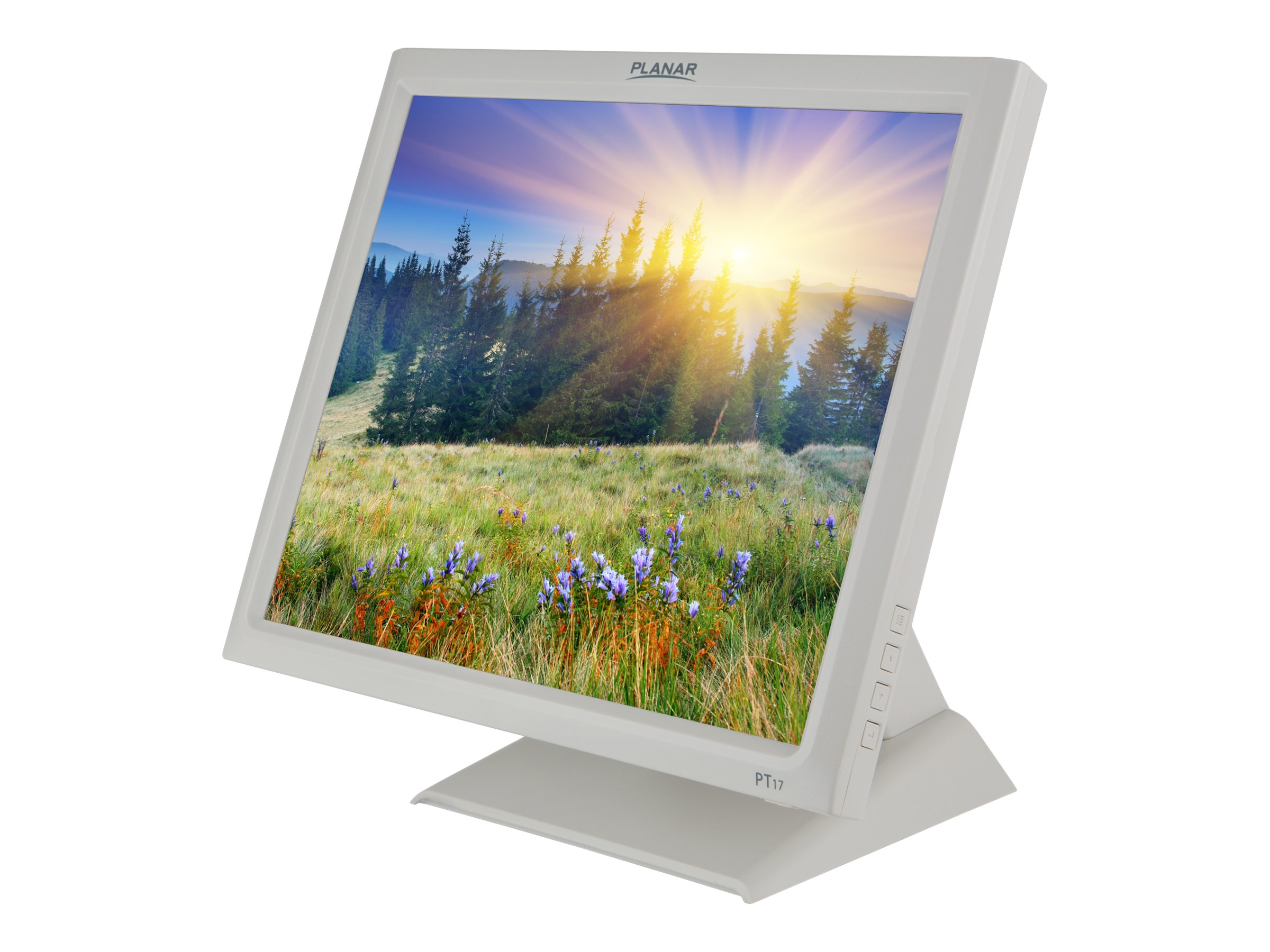 Planar 17 PT1745R LCD Touchscreen Monitor, White, 997-7454-00, 16802729, Monitors - LCD