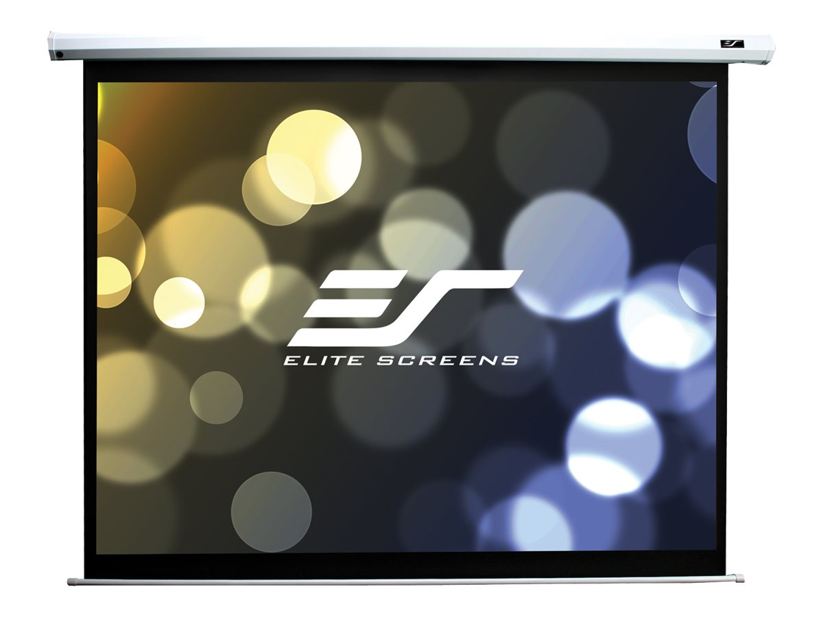 Elite Economy Electric Projection Screen, White Case, 100in