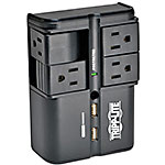 Tripp Lite Protect It! Surge Suppressor Direct Plug-In, 1080 Joules, (4) Rotatable Outlets, 3.4A USB Charger