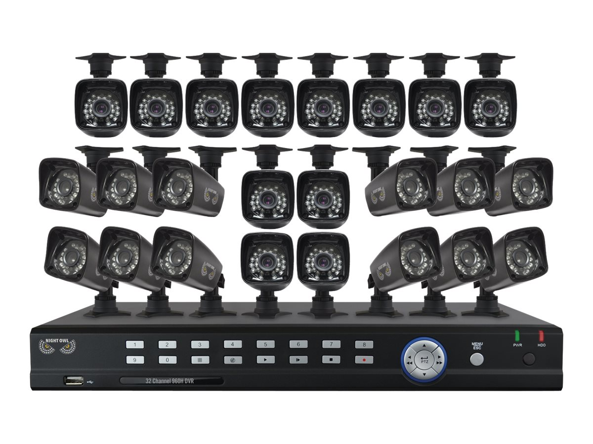 Night Owl 32-Channel DVR with 24x 700TVL Bullet Cameras, B-F93224-700-2TB, 21086077, Video Capture Hardware
