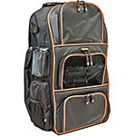 Mobile Edge Deluxe Baseball Softball Bag, Black Silver Piping