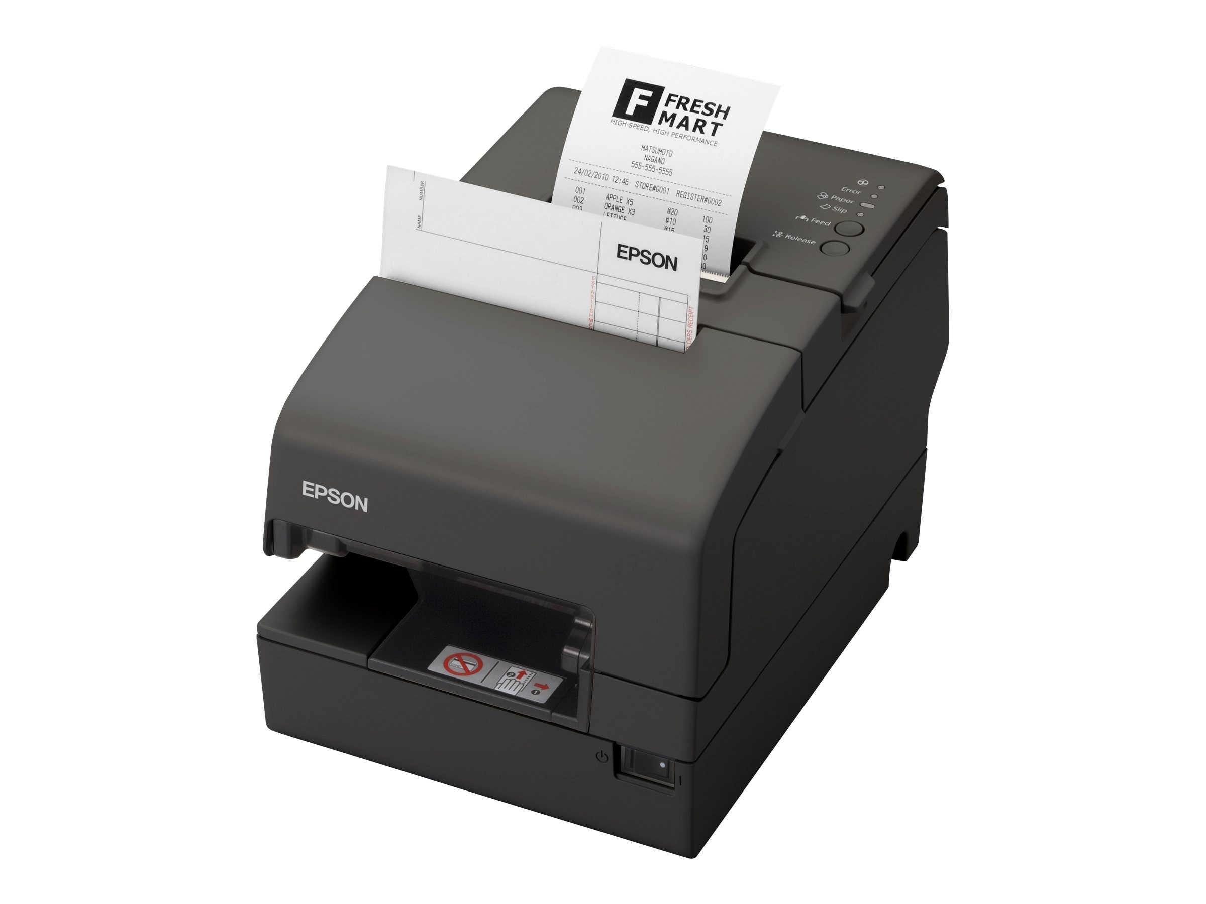 Epson TM-H6000IV USB Serial Multifunction Printer w  EDG, MICR & Drop-in Validation, C31CB25074
