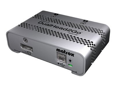 Matrox DualHead2Go Mini DisplayPort to 2XDVI External Adapter RTL, D2G-DP2D-MIF