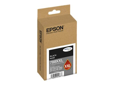 Epson Black T788 DuraBrite Ultra XXL Ink Cartridge, T788XXL120