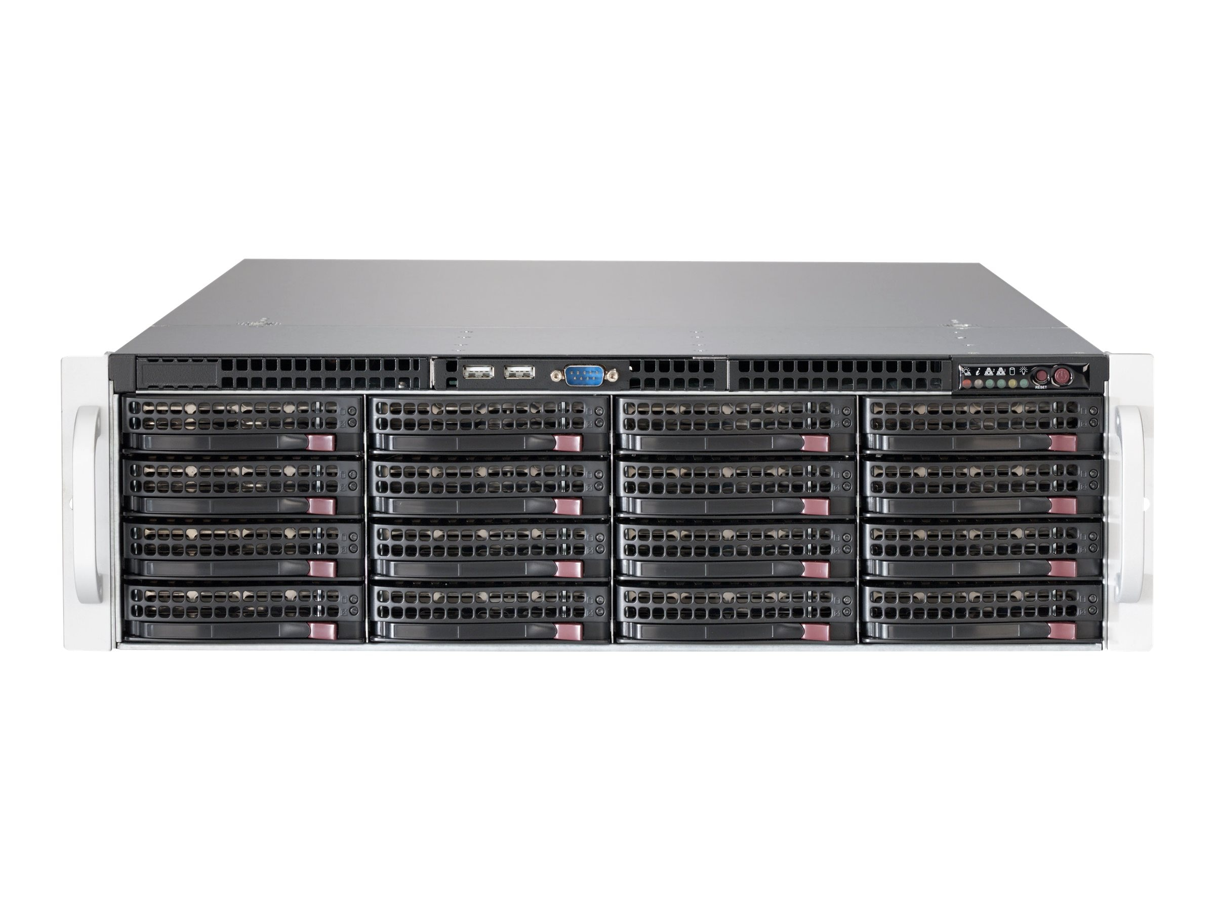 Supermicro Chassis, SuperChassis 836BE2C-R1K03JBOD 3U RM 16x3.5 HS Bays 2x1000W