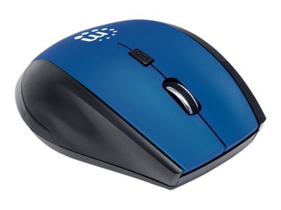 Manhattan Curve Wireless Optical USB Mouse (5) Button w  Scroll Wheel