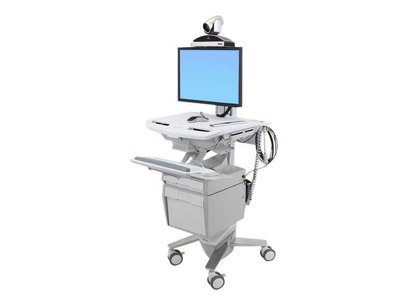 Ergotron StyleView Telepresence Cart, Single Monitor, SV43-53E0-1, 18180994, Computer Carts - Medical