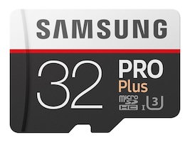 Samsung 32GB Pro Plus MicroSDHC Card with SD Adapter, MB-MD32GA/AM, 33749579, Memory - Flash
