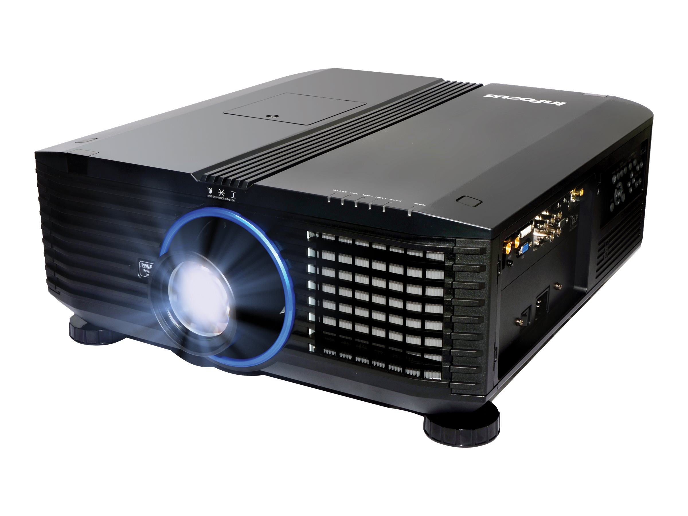 InFocus IN5555L WUXGA DLP Projector, 7000 Lumens, Black, IN5555L
