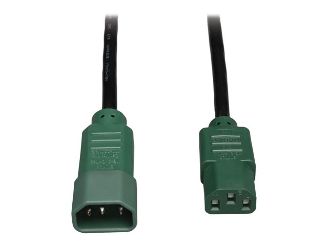 Tripp Lite Heavy Duty Power Cable, 14AWG, C13 to C14, 6ft, Green