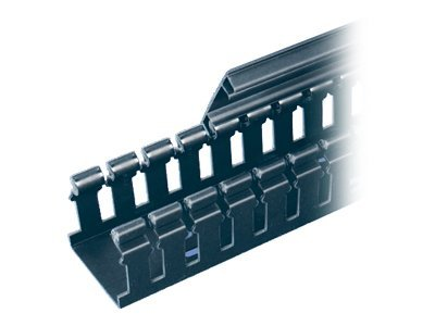 Panduit Panduct Type H Hinged Cover Wide Slot Wiring Duct, 2h x 1.5w x 6', PVC, Black, H1.5X2BL6