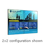 Planar (6) 55 PS5580 Full HD LED-LCD Display 2x3 Tiled Video Wall Bundle, 69990, 18169357, Monitors - Large-Format LED-LCD