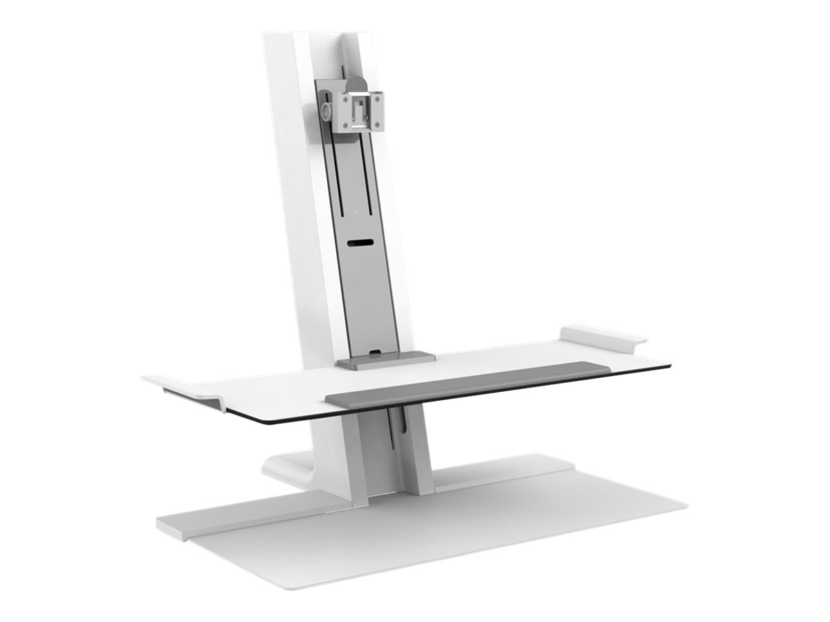 Humanscale QuickStand with Single Monitor Support and Light Stand, Black, QSWL24FDN
