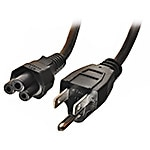 Tripp Lite Power Cord NEMA 5-15P to C5, 125V 2.5A 18AWG SVT, Black, 3ft