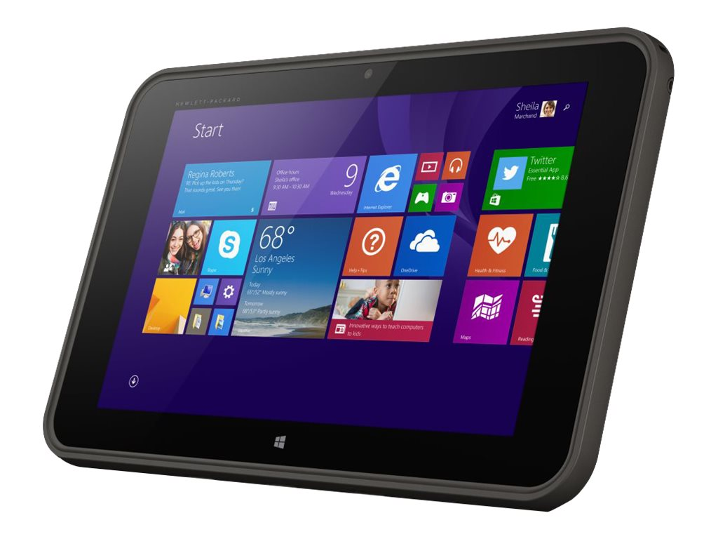 Scratch & Dent HP Pro Tablet 10 EE G1 Atom Z3735G 1.33GHz 1GB 32GB abgn BT 2xWC 2C 10.1 WXGA MT W8.1P EDU, L3Z81UT#ABA, 30872580, Tablets