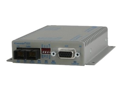 Omnitron onverter X.21 Serial to Fiber SC SM 1310NM 30KM AC US w  Cable, 8843-1-AW, 15447577, Network Transceivers