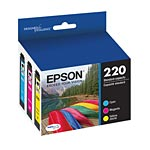 Epson Standard-Capacity Color Multi-Pack Ink Cartridges, T220520, 18316185, Ink Cartridges & Ink Refill Kits