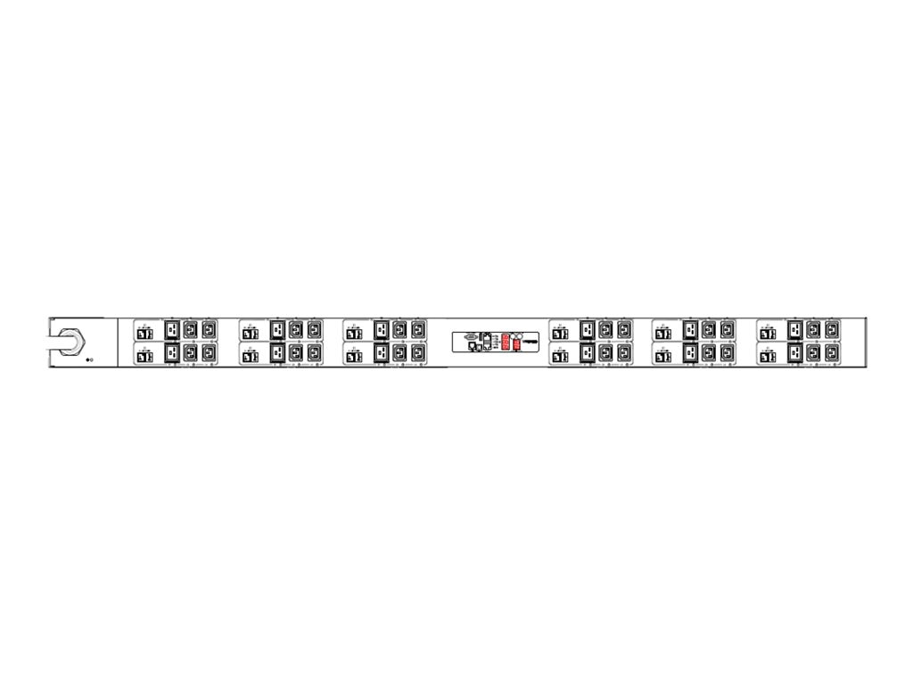 Raritan PDU 415V 63A 3-ph Wye IEC 60309 Input (24) C13 (12) C19 Outlets, PX2-2048, 30620770, Power Distribution Units