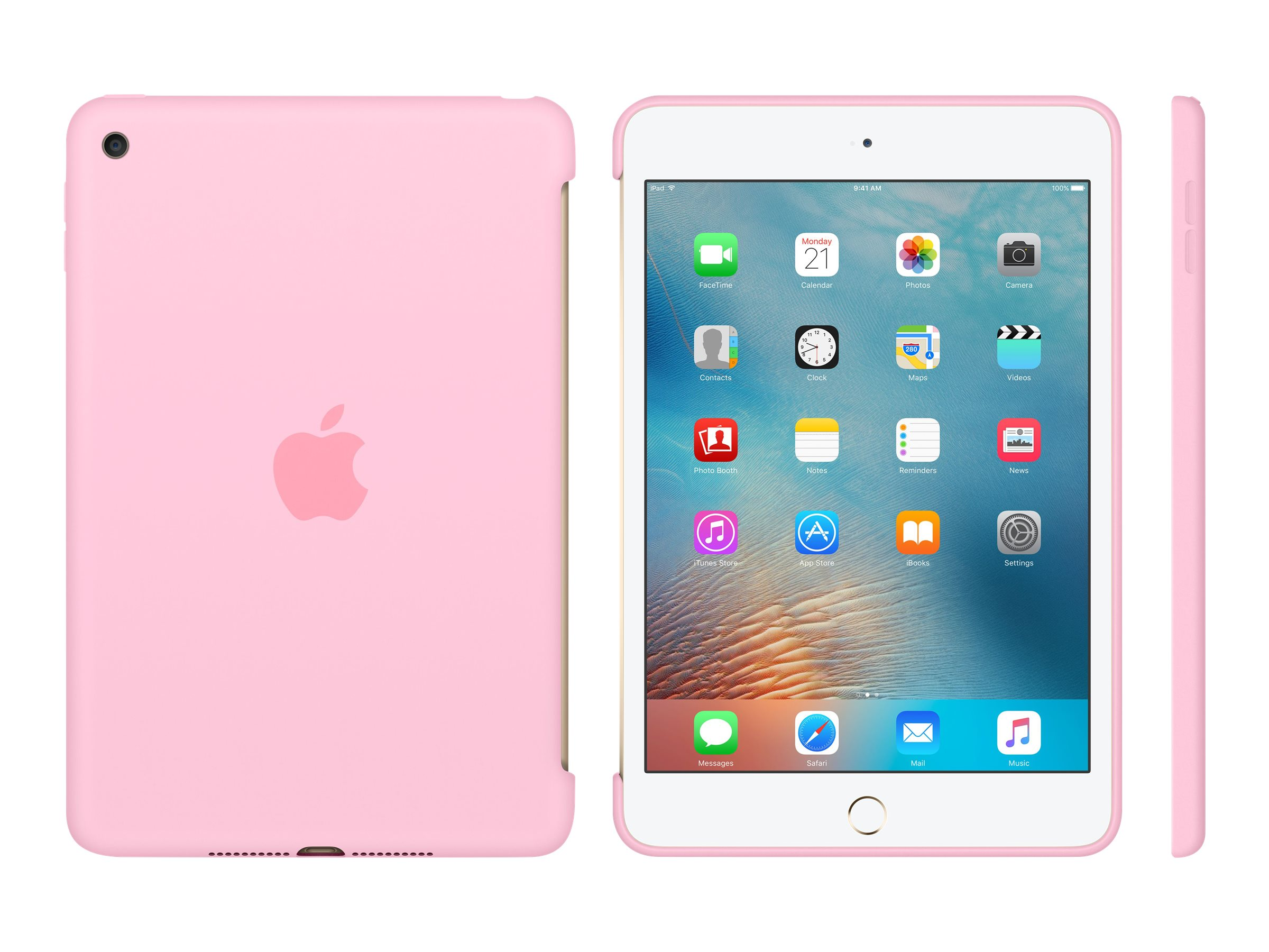 Apple iPad mini 4 Silicone Case, Light Pink, MM3L2ZM/A