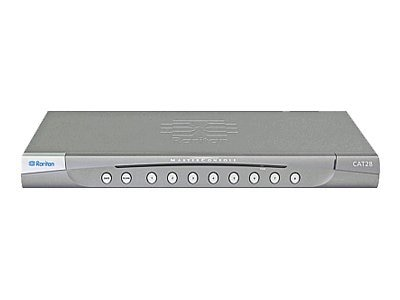 Raritan 8-Port Cat5 KVM Switch- 2nd User Not Included, MCCAT28, 8934334, KVM Switches