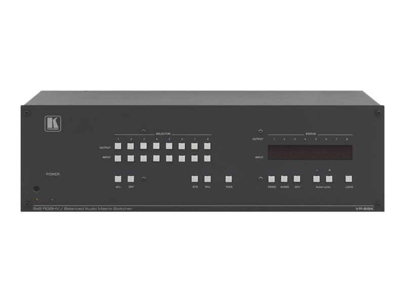 Kramer Balanced Stereo Audio Matrix Switcher., VP-88K, 31853268, Switch Boxes - AV