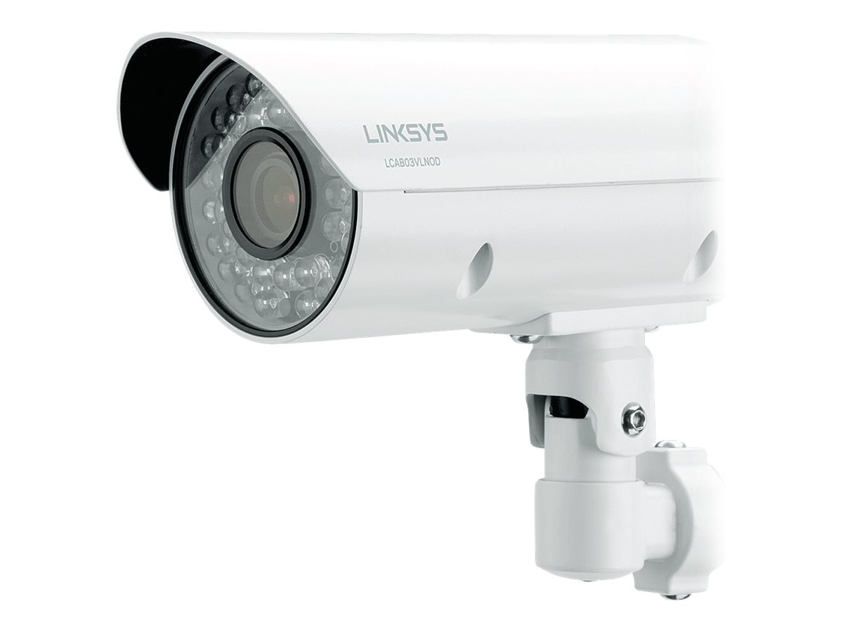 Linksys 1080p 3MP Outdoor Night Vision Bullet Camera, LCAB03VLNOD, 16772566, Cameras - Security