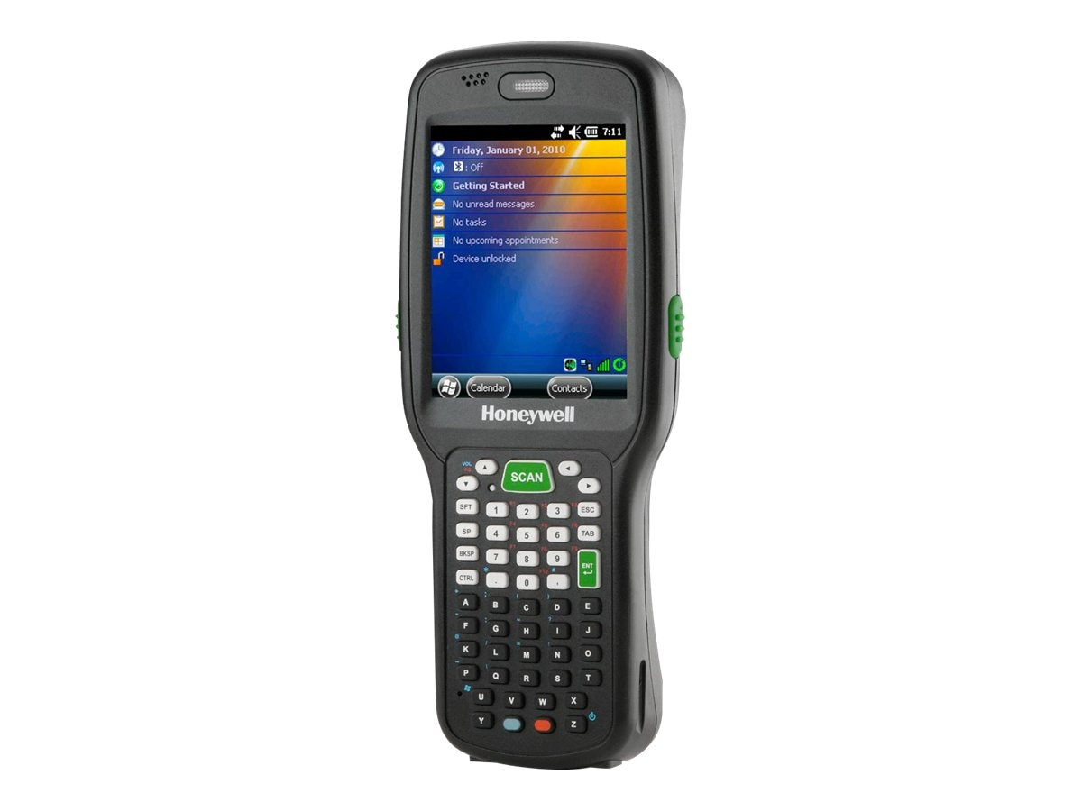Honeywell Dolphin 6500 802.11b g BT Imager 28-key 256MB RAM Flash Extd Batt P S H S Stylus Win Emb 6.5, Black, 6500LP11222E0H