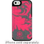 Allsop Fabric Case for iPhone 5 5S, Pink Filigree