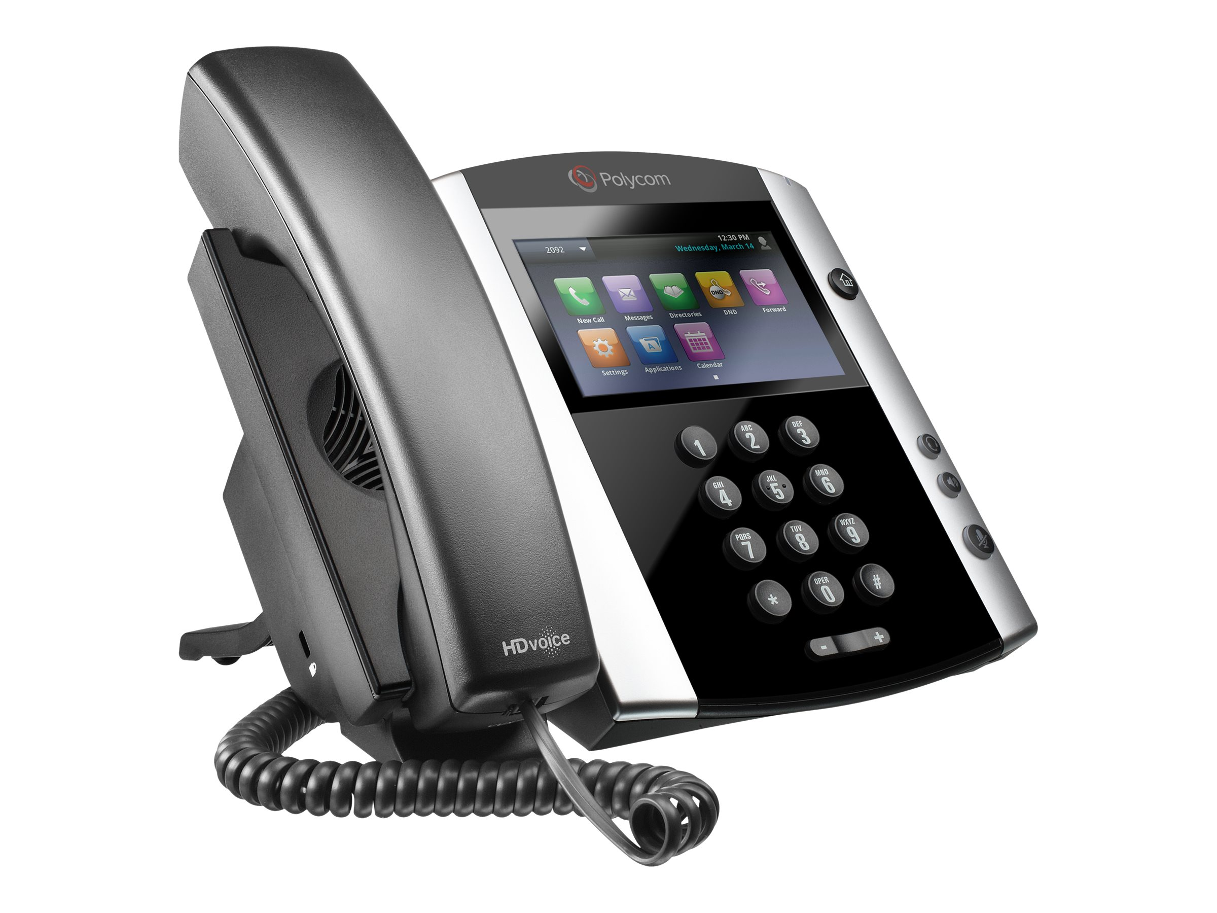 Polycom VVX 600 16-Line Business Media Phone w Skype for Business, 2200-44600-019