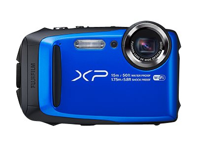 Fujifilm FinePix XP90 Waterproof WiFi Camera, 16.4MP, 5x Zoom, Blue, 16500076, 31271612, Cameras - Digital - Point & Shoot