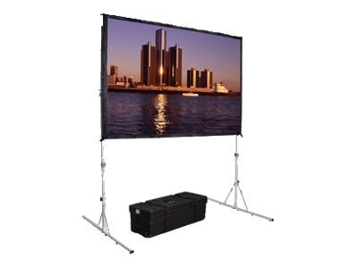 Da-Lite Fast-Fold Deluxe Projection Screen System with HD Legs, Dual Vision, 16:9, 83 x 144
