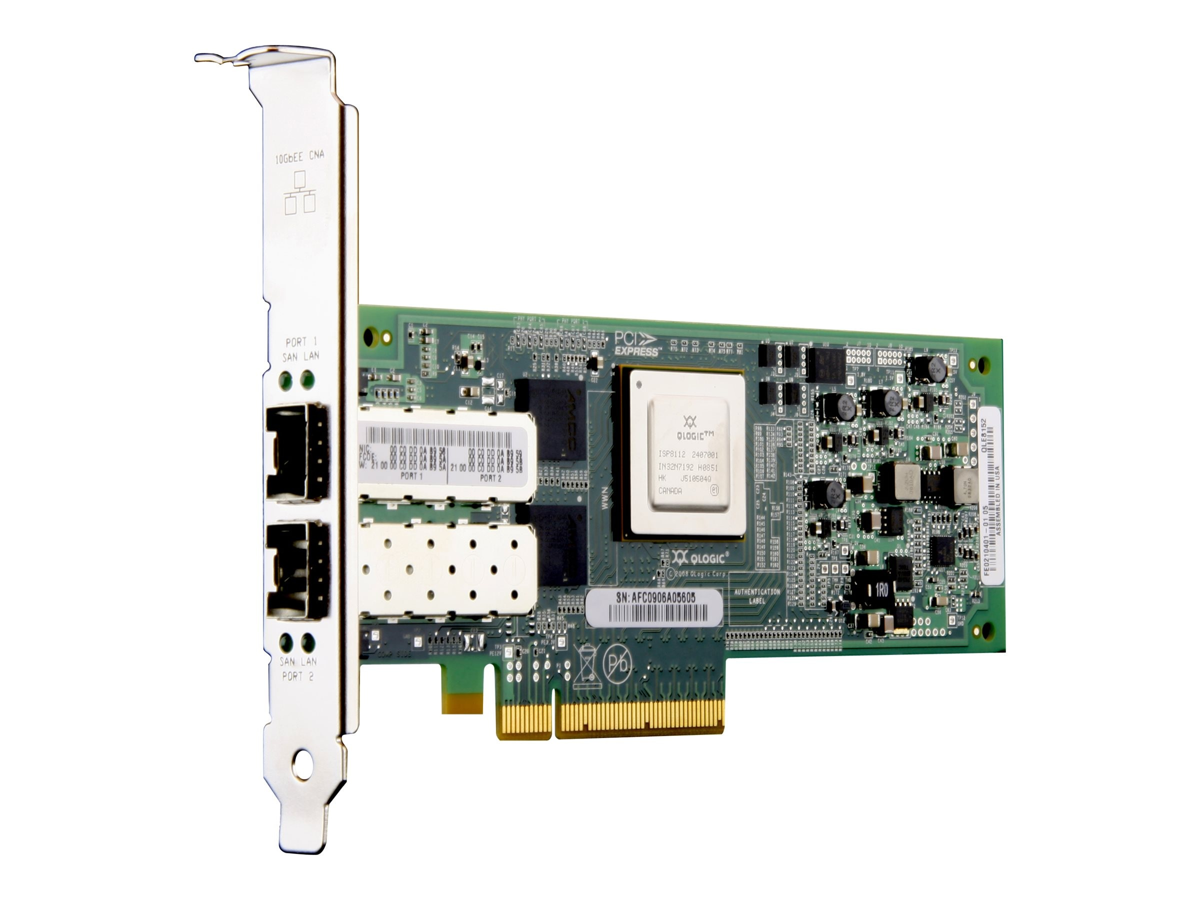 Cisco QLE 8152 Converged Network for Qlogic, N2XX-AQPCI01, 10909795, Network Adapters & NICs