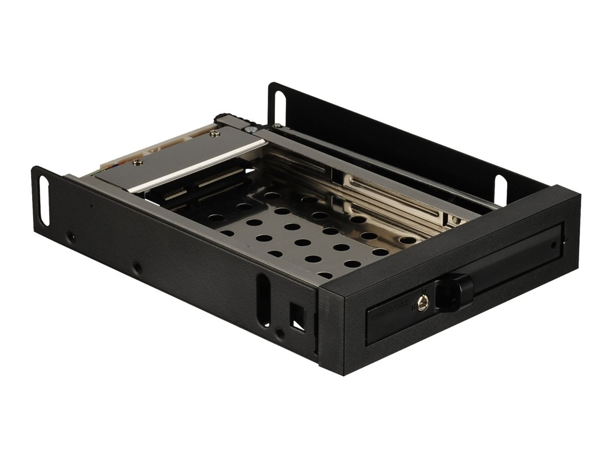 Enermax 3.5 Mobile Rack Enclosure for 2.5 SATA 6Gb s Hard Drive Solid State Drive, EMK3101