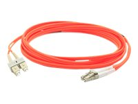 ACP-EP LC-SC 62.5 125 OM1 Multimode LSZH Duplex Fiber Cable, Orange, 40m