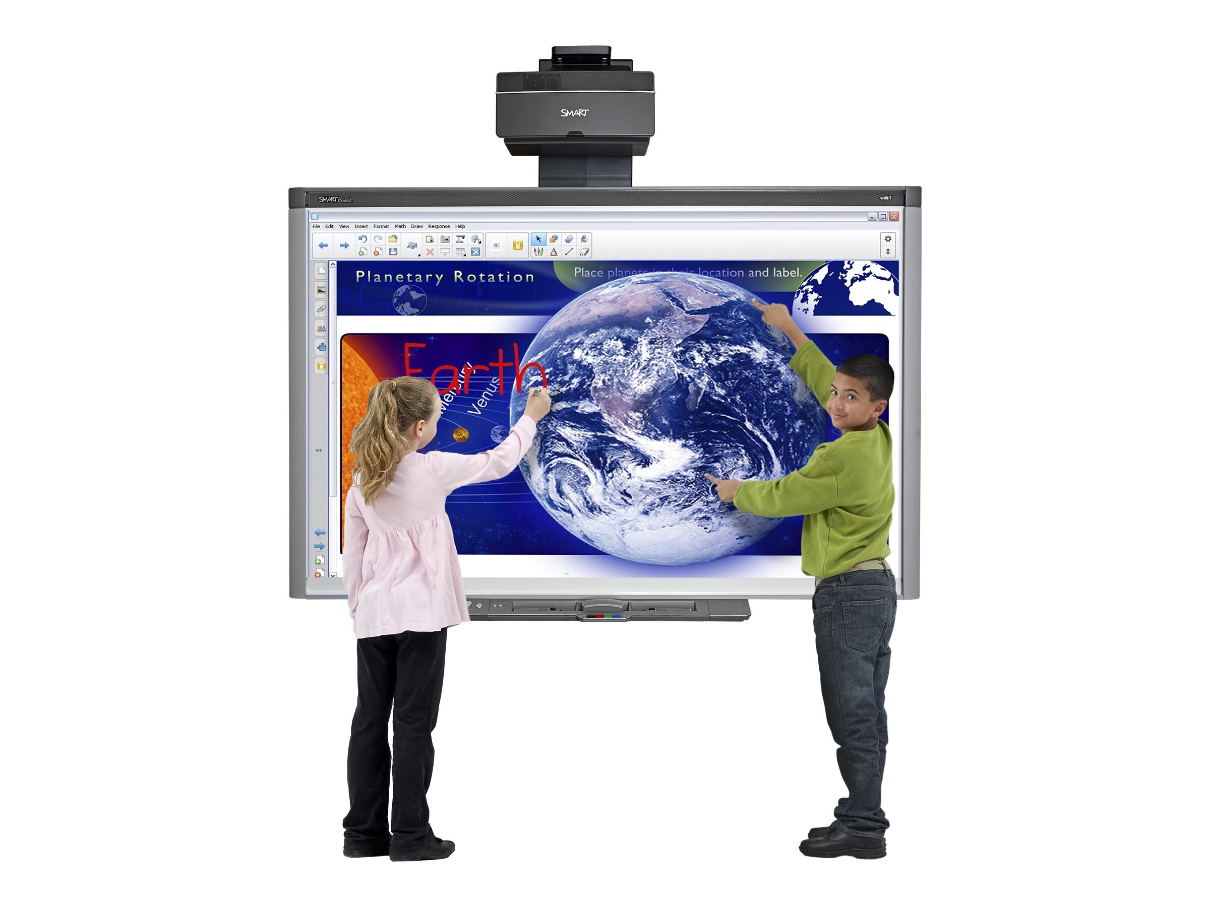 SMART 87 SMART Interactive Whiteboard w  UX80 Projector System, GoWire Cable, SMART Meeting Pro Software, SB885IX2-SMP, 30836298, Whiteboards
