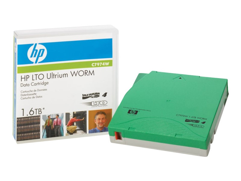 HPE LTO-4 Ultrium 1.6GB WORM Data Tape, C7974W, 7738497, Tape Drive Cartridges & Accessories