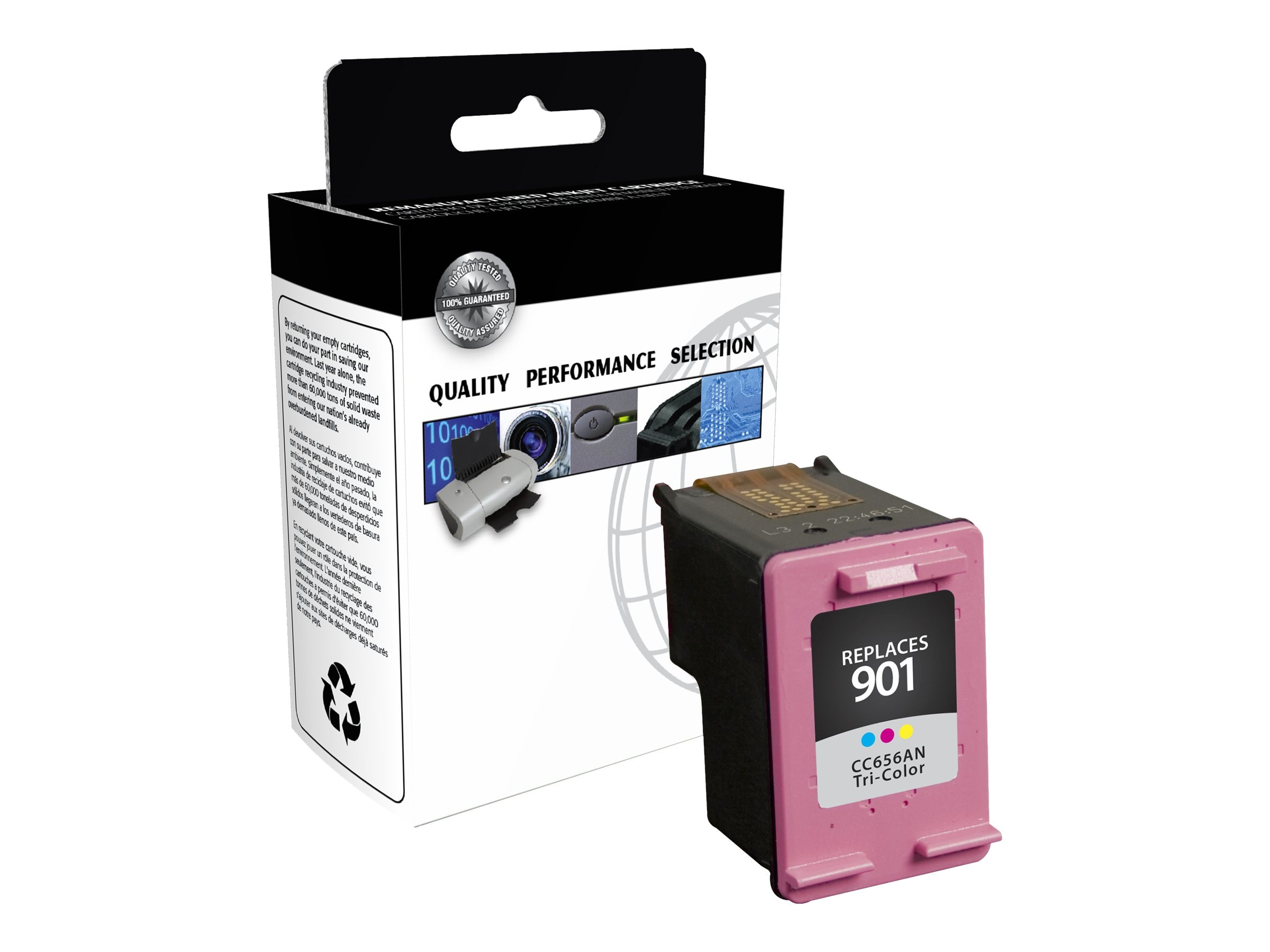 V7 CC656AN Tricolor 901XL High Yield Ink Cartridge for HP (TAA Compliant), IHT2656AN, 13711469, Ink Cartridges & Ink Refill Kits