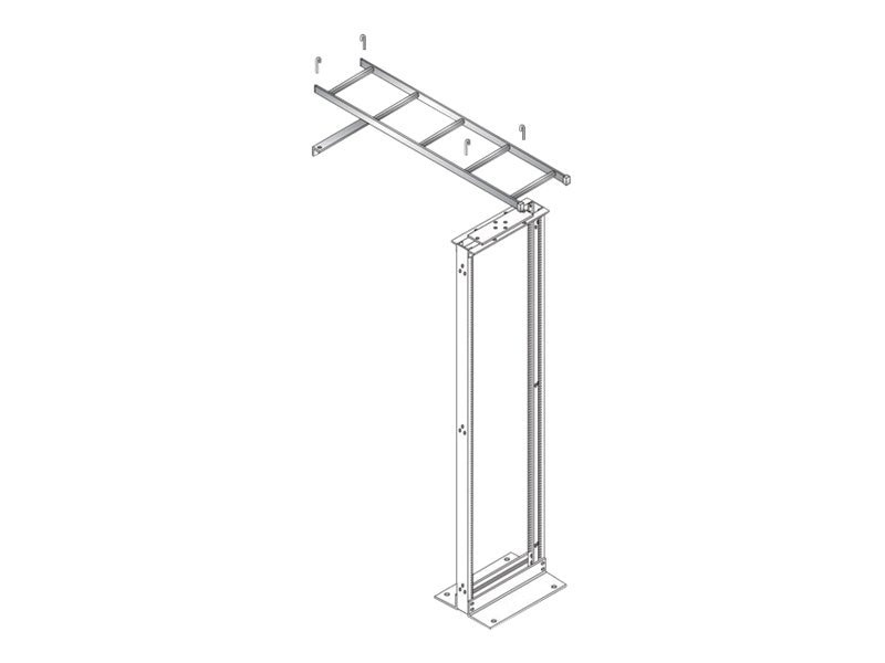 Black Box Ladder Rack Rack-to-Wall Kit, RM696, 8693948, Rack Mount Accessories