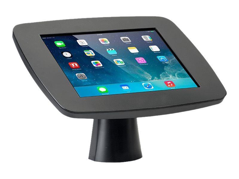 Tryten Kiosk Stand Secure Mount with Security Lock for iPad - Black, T2425B
