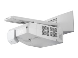 NEC UM351W Ultra Short Throw LCD Projector, 3500 Lumens, White with Wall Mount, NP-UM351W-WK, 18193162, Projectors
