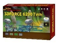 Jaton NVIDIA GeForce 6200 Twin (Dual VGA) 256MB DDR AGP 8X 4X, 3DFORCE6200TWIN, 8295835, Graphics/Video Accelerators