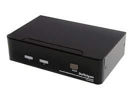 StarTech.com 2-Port DVI + USB KVM Switch with Audio and USB 2.0 Hub, SV231DVIUA, 12552419, KVM Switches