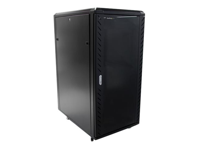 StarTech.com 25U x 36 Knock-Down Server Rack Cabinet w  Casters, Black