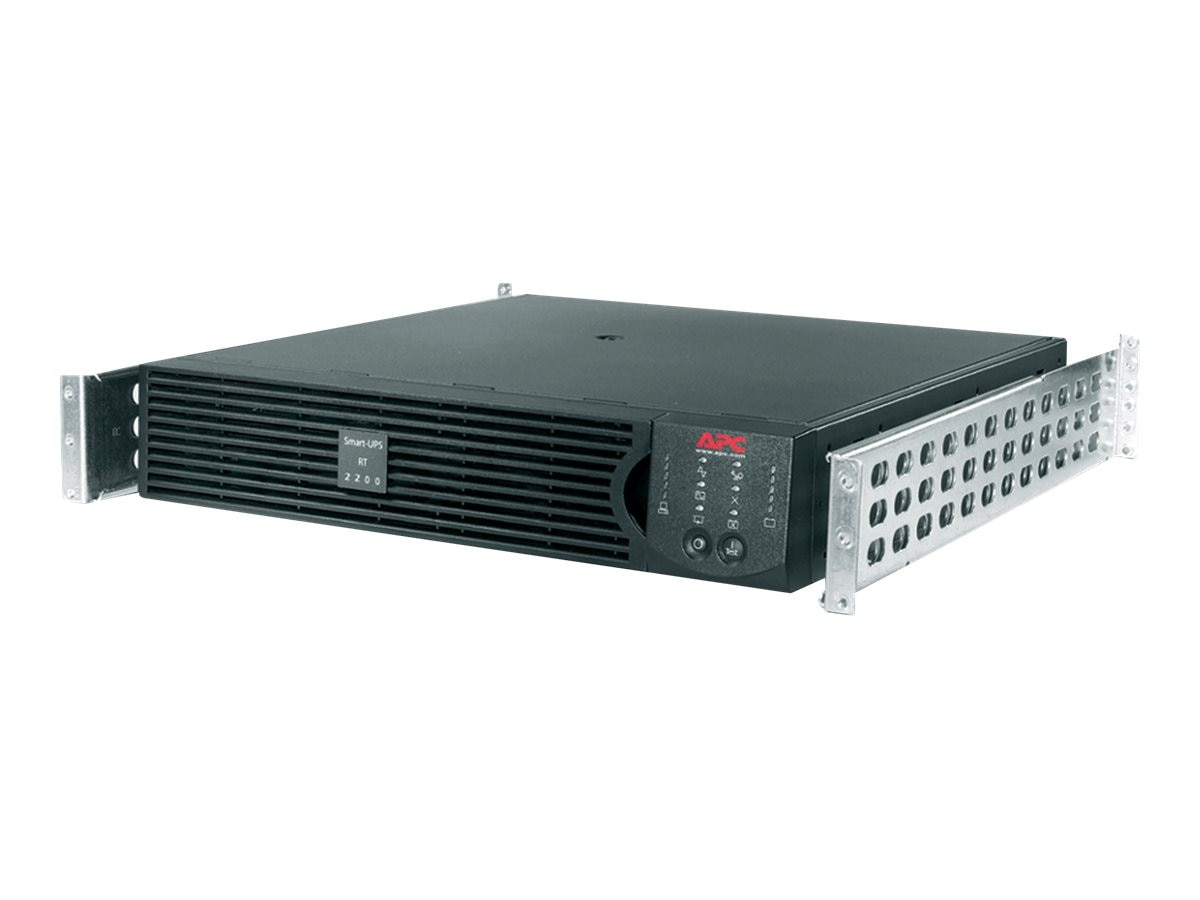 APC Smart-UPS On-Line RT 2200VA 1600W 120V 2U 5-20P 6ft Cord (6) 5-15R Outlets Network Card, SURTA2200RMXL2U-NC