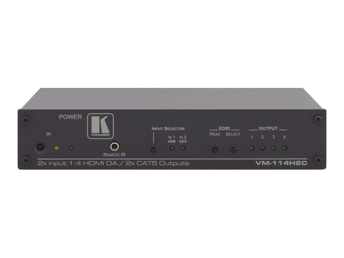 Kramer 2x1:4 2 HDMI, 2 Twisted Pair Transmitter Distribution Amplifier