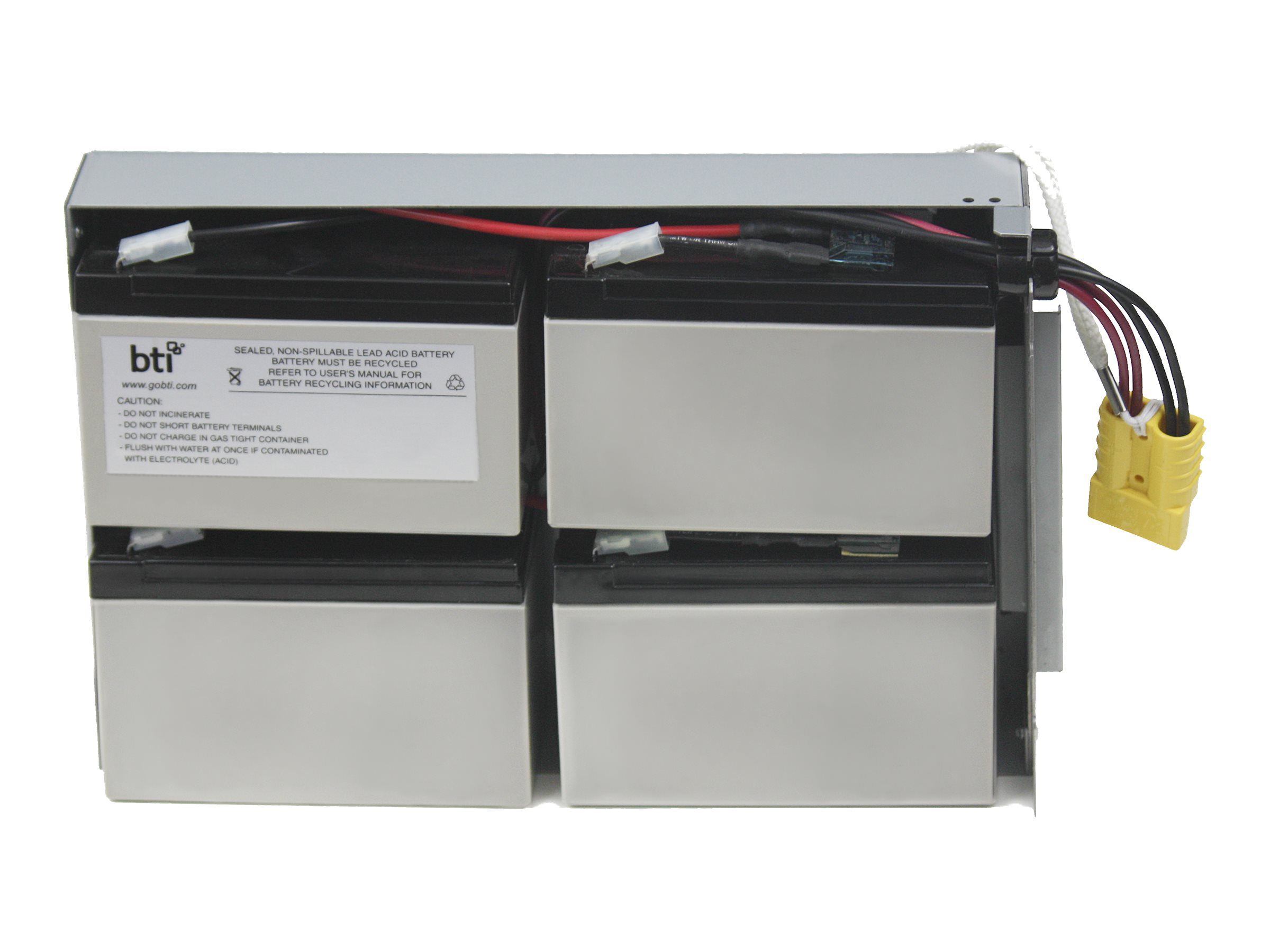 BTI Replacement Battery, RBC24, for APC SU1400RM2U, SUA1500RM2U, DLA1500RM2U Models, RBC24-SLA24-BTI
