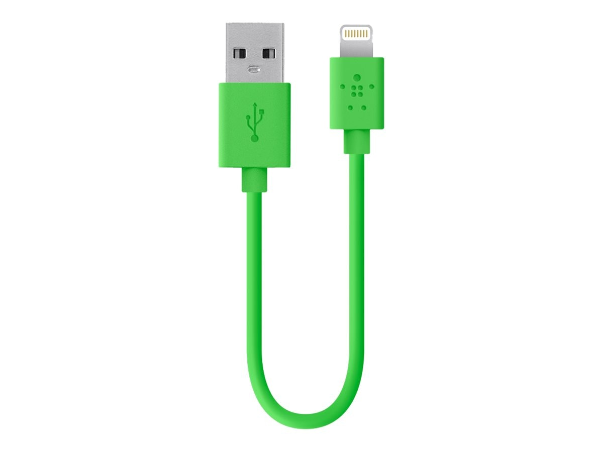 Belkin MIX IT Lightning Sync Charge Cable, Green, 6, F8J023BT06INGRN